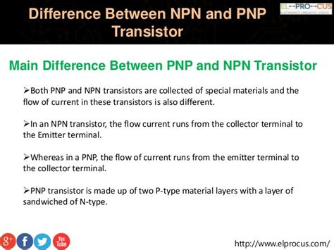 difference between transistor and diode difference between npn and pnp transistor pptx