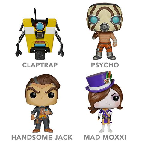 Pop Funko Borderlands Psycho borderlands vinyl pop figures thinkgeek