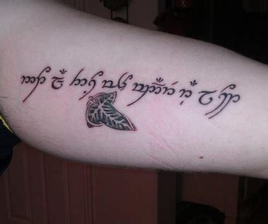 sonnee tattoo indonesia quot not all those who wander are lost quot in elvish script with