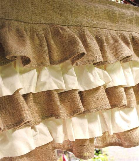 cream burlap curtains 25 best ideas about burlap valance on pinterest burlap