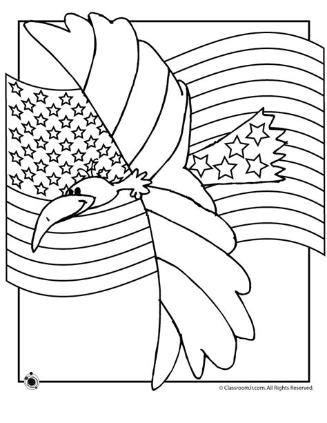 coloring pages american eagle american eagle and flag coloring page woo jr kids