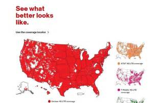 verizon updated their coverage map today triangle