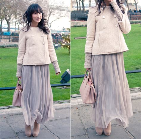 sun j marc by lace wool jacket pleated maxi