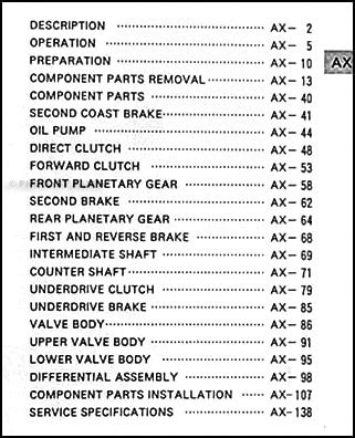 car repair manuals download 1994 toyota corolla transmission control 1994 2002 automatic transmission repair manual celica mr2 paseo corolla rav4