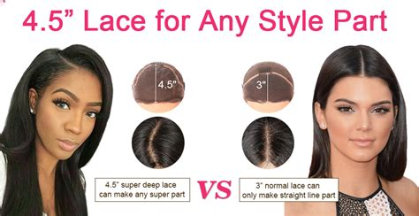 how wide is a normal hairline part 4 5 inch deep part lace front wigs indian remy hair body