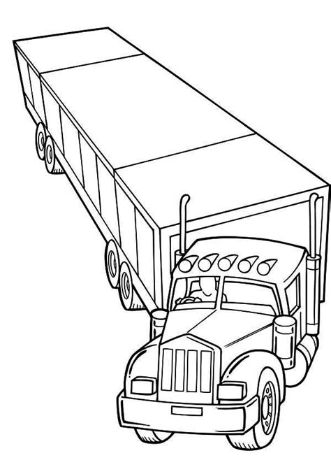 Semi Coloring Pages by Semi Trucks Cliparts Co