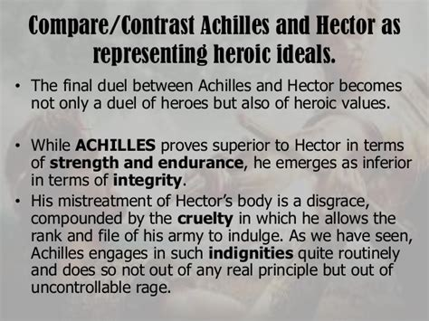 Achilles Vs Hector Essay by Achilles Vs Hector Compare And Contrast Uirunisaza Web Fc2