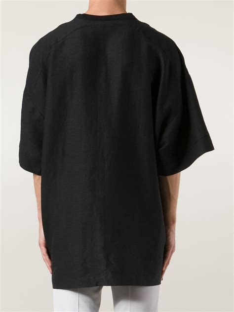 Oversized Tshirt chapter oversized t shirt in black for lyst