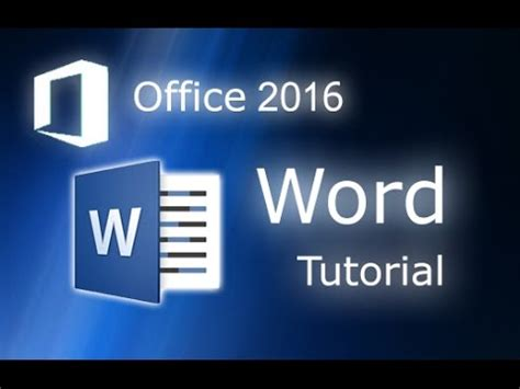 Tutorial Microsoft Office 2016 microsoft word 2016 tutorial for beginners