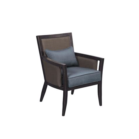 brown jordan greystone patio dining chair  denim