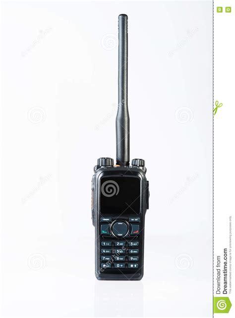 police portable radio stock image image  button