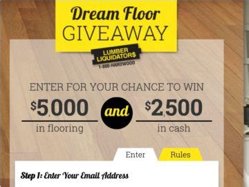 Dream Floor Giveaway Sweepstakes - lumber liquidators dream floor giveaway sweepstakes