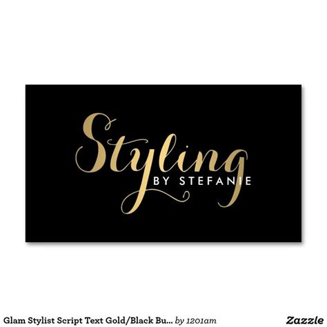 Gold Fashion Stylist Business Card Template by Glam Stylist Calligraphy Script In Gold Business Card