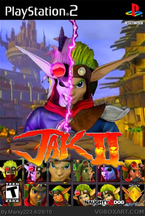 jak ii playstation 2 box art cover by marky223