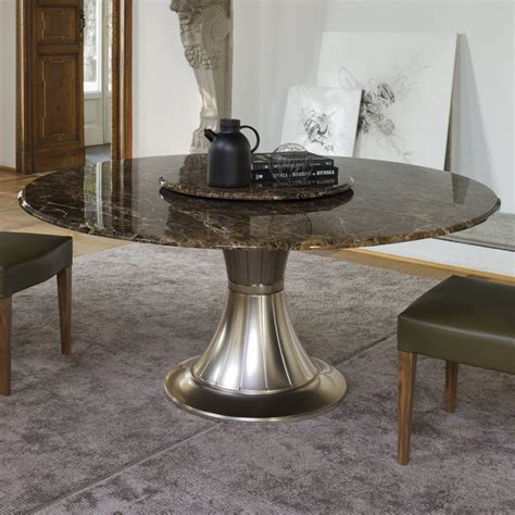 italian high end round marble table