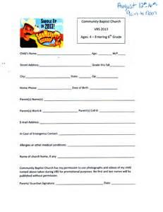 Registration Form Template Free Similiar Printable Vbs Registration Form Template Keywords