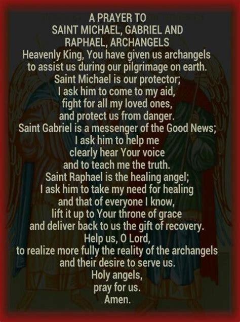 prayer to st prayer to the archangels prayer journal