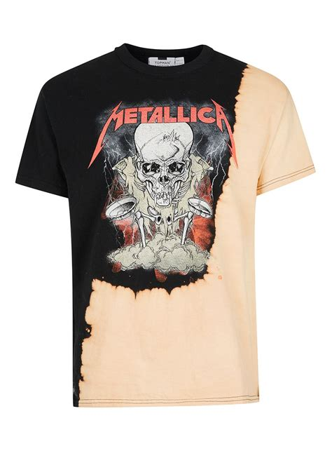 Metallica Black T Shirt black and metallica print oversized t shirt topman