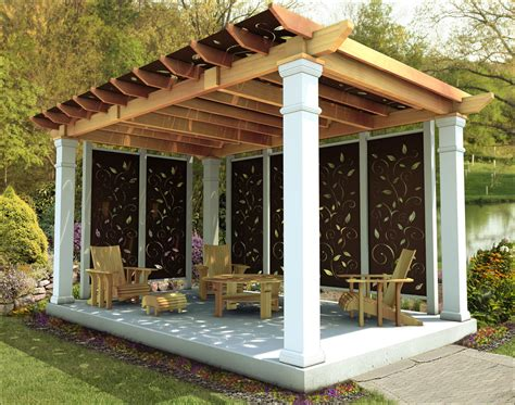 privacy pergola customer s photo 10 x 16 cedar oasis pergola with