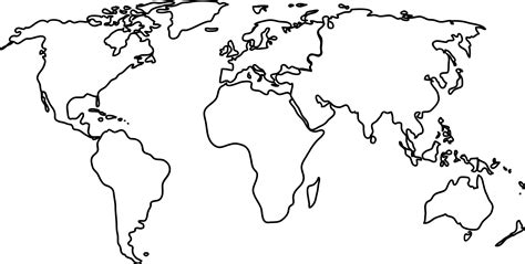 exciting world map black and white outline best 25 blank world map black an white best of world map clipart black