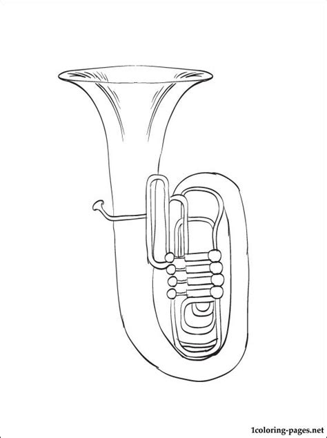 free coloring pages of brass instrument