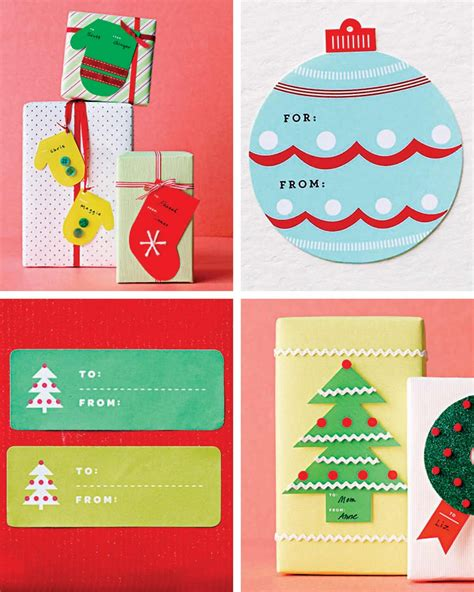 martha stewart printable holiday gift tags images frompo