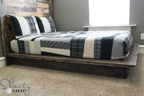 easy diy platform bed shanty  chic