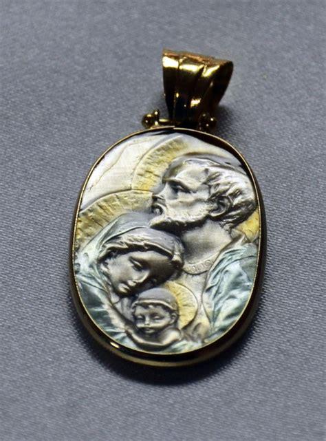 Medalla Sagrada Familia Plata y Oro   Medallas Religiosas