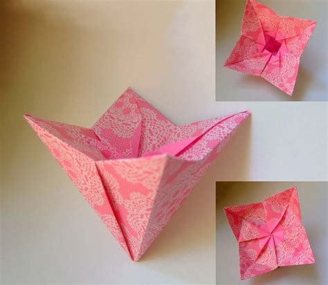 Origami Box Flower - flower boxes origami and origami flowers on