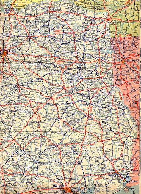 map of ne texas texasfreeway gt statewide gt historic information gt road maps