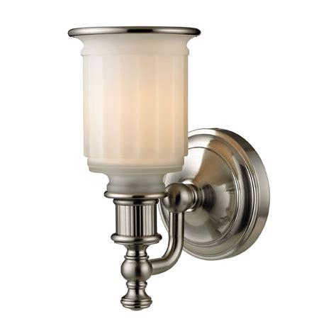 Light Fixtures Brushed Nickel Elk 52000 1 Acadia Brushed Nickel Wall Light Fixture Elk 52000 1