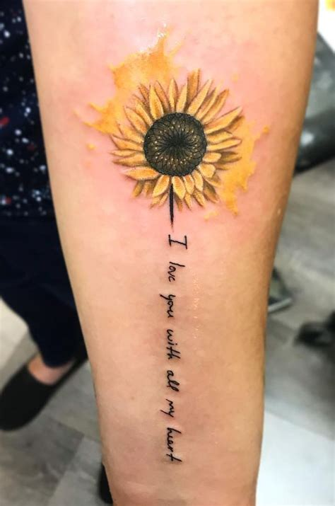 sunflower watercolor tattoo celebrate the of nature with these inspirational