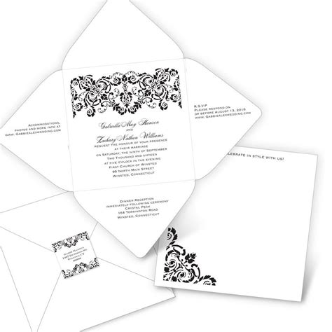 Seal And Send Wedding Invitations by Damask Band Seal And Send Invitation S Bridal Bargains