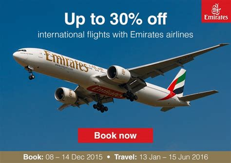 emirates newsletter save 30 on emirates flights from r6445