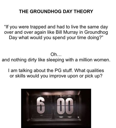 groundhog day theory how to impress an ex the step by step guide