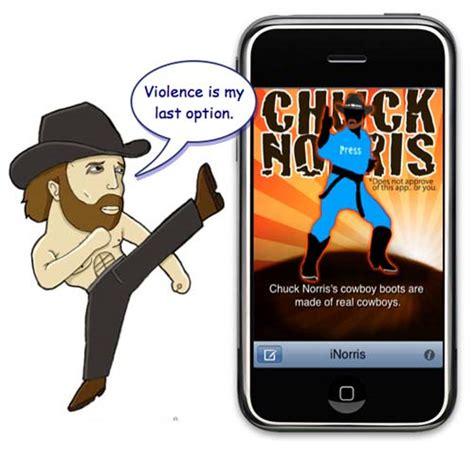 iphone savior apple rejects epic inorris joke app for ridiculing chuck norris