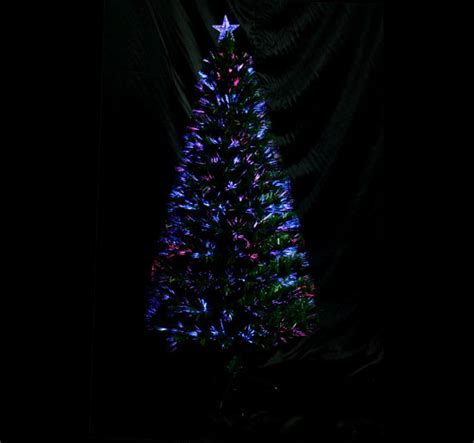 3 ft fiber optic xmas tree fiber optic tree 6 3ft 230 leaf tips winter decor green ebay