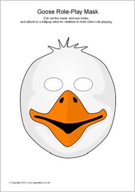 swan mask template goose mask printables