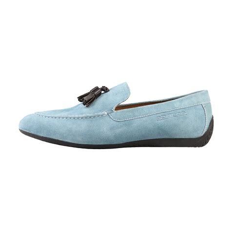 pale blue loafers marina bay suede loafer light blue 39 sparco