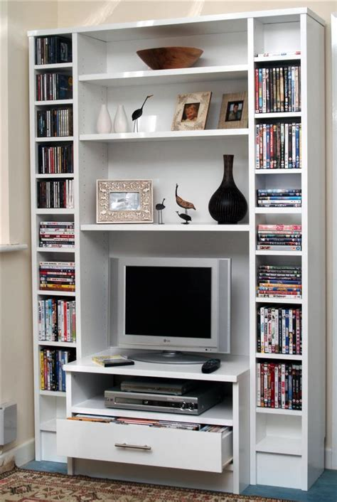 tv and media bookcase