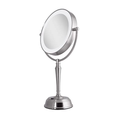 zadro lighted makeup mirror zadro 11 in x 19 in led lighted 10x 1x vanity mirror