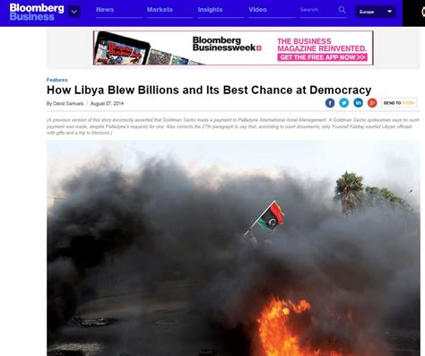 Bloomberg Top Mba 2015 by Bloomberg Business How Libya Blew Billions And Its Best