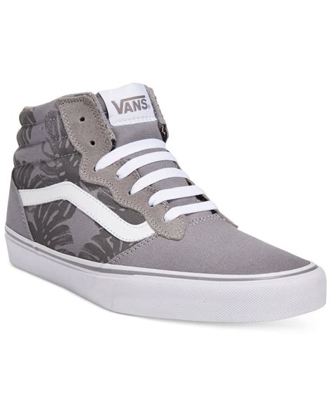 vans sneakers mens vans s milton hi top floral sneakers in gray for