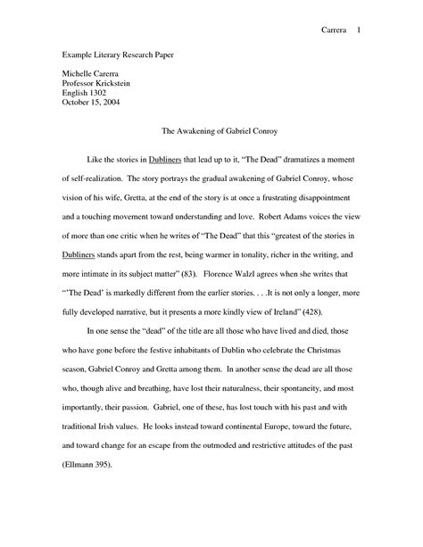 Literary Research Essay best photos of research papers exles of literature sle literature review papers