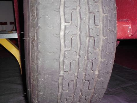 boat trailer tires uneven wear uneven tire wear problem teamtalk