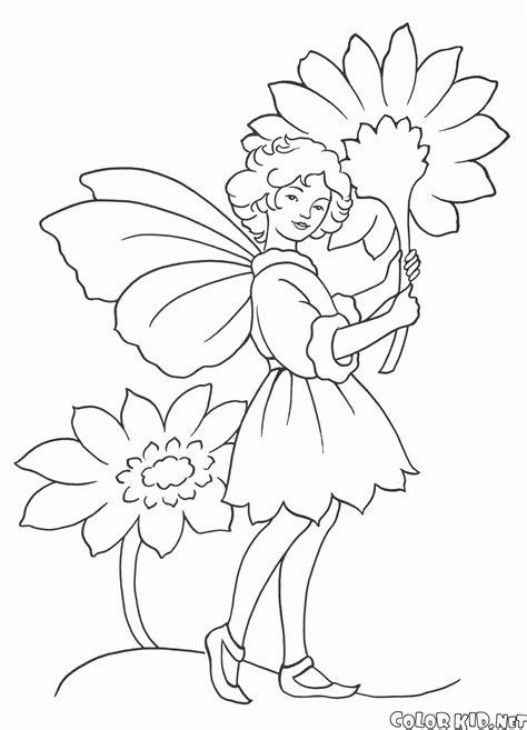 come colorare i fiori disegni da colorare fata con fiori