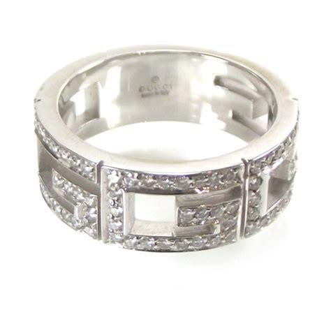 gucci 18k white gold multi g ring 7 16483