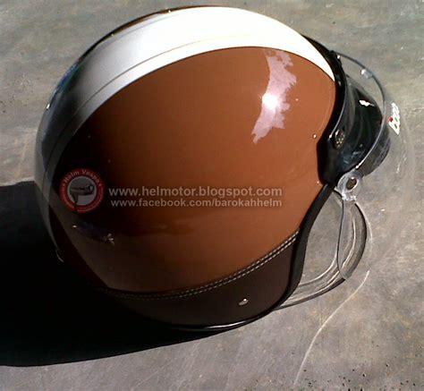 Helm Retro Bogo Deco Coklat Tua Coklat Tua Banget List Coklat helm vespa bogo ksct coklat garis putih helm vespa