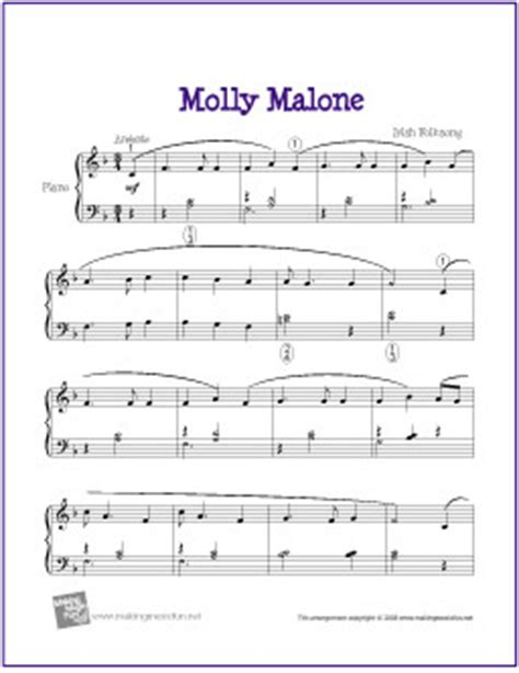 molly malone (cockles and mussels)   free easy piano sheet
