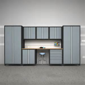 Lowe S Canada Garage Cabinets Newage Products 31637 Pro Series 8 Cabinetry Set